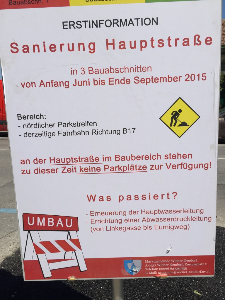 Hauptstraße Information