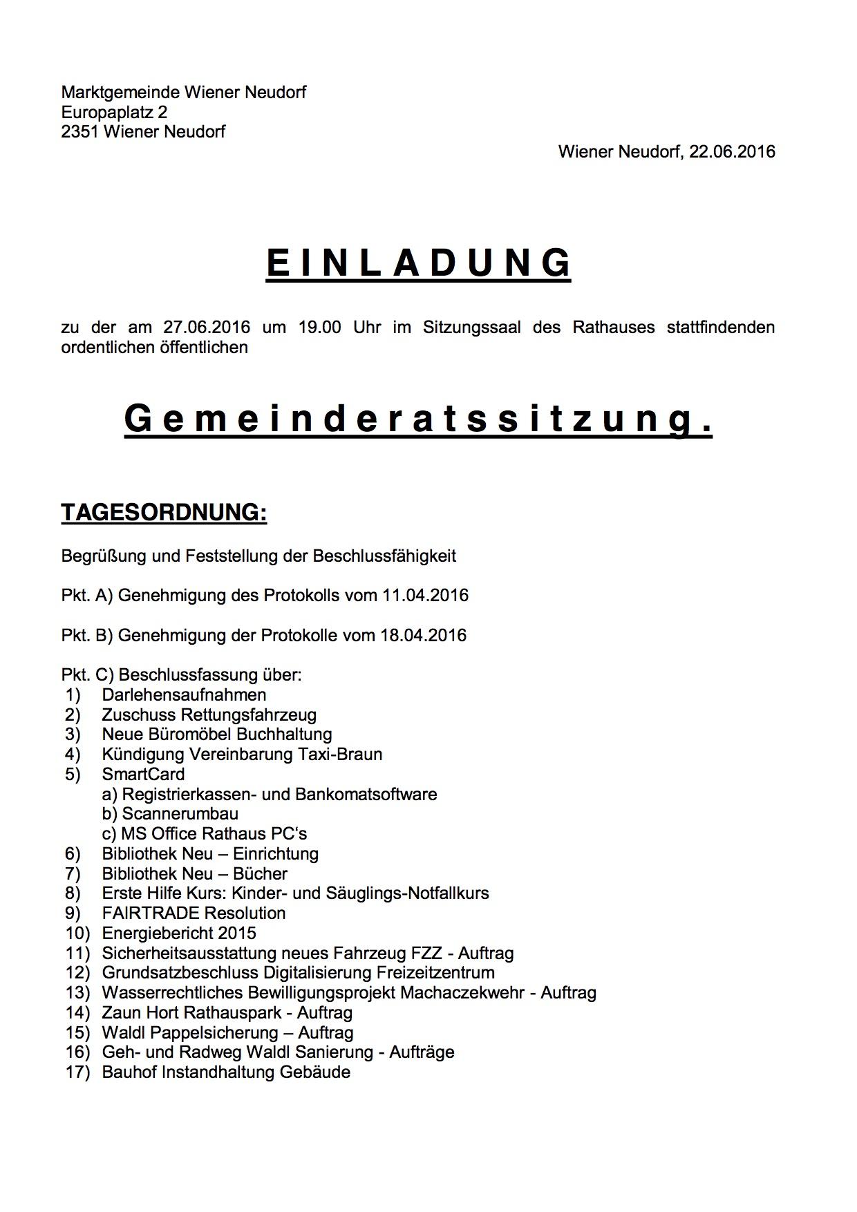 Einladung GR 27-06-16